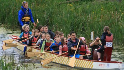 Dragon Boating on Exeter Canal